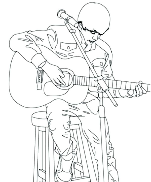 600x722 Great Coloring Pages Of Justin Bieber Print