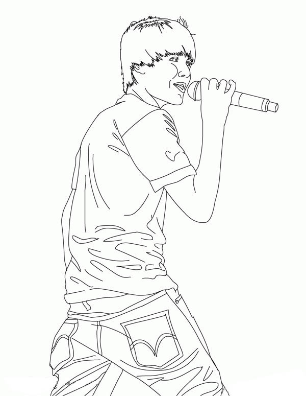 600x775 How To Draw Justin Bieber Coloring Page