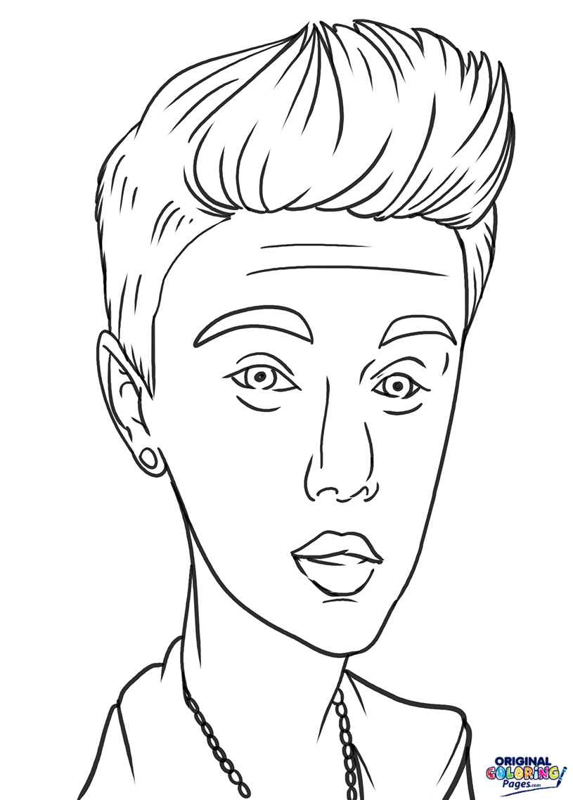 815x1138 justin bieber coloring page coloring pages original coloring pages - Justin Bieber Coloring Pages