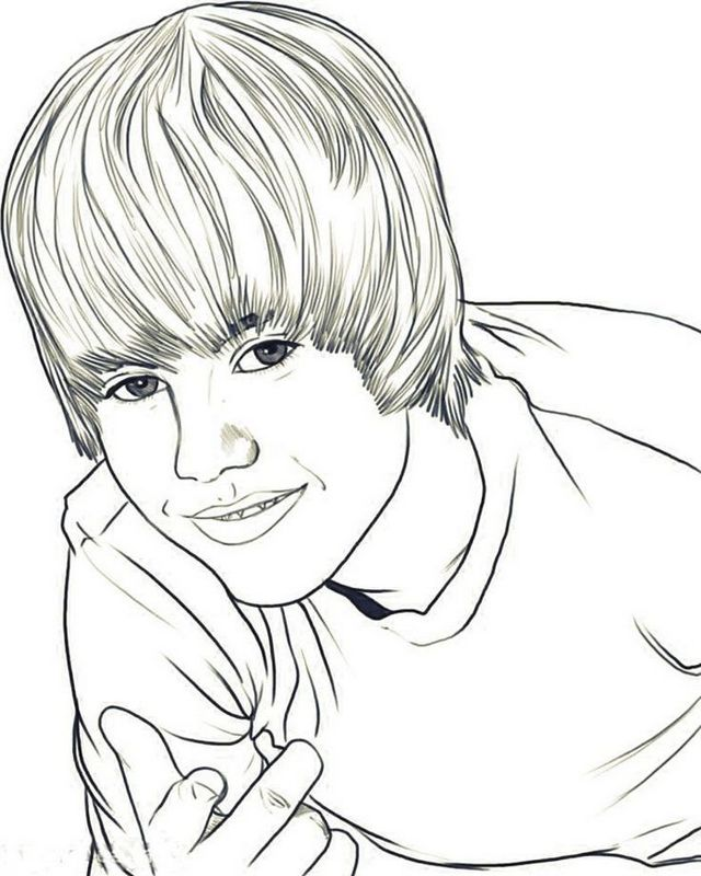 640x800 Top 7 Cool And Handsome Justin Bieber Coloring Pages For Bieber