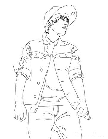 364x470 Printable Justin Bieber In Blue Jeans And Jacket