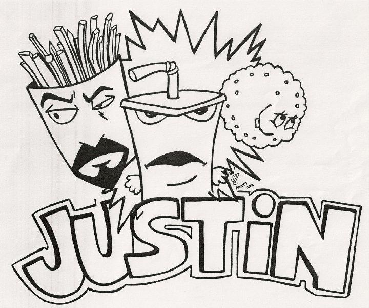 720x600 Justin Name Drawing For My Husband, Justin! Lt3 Artwork