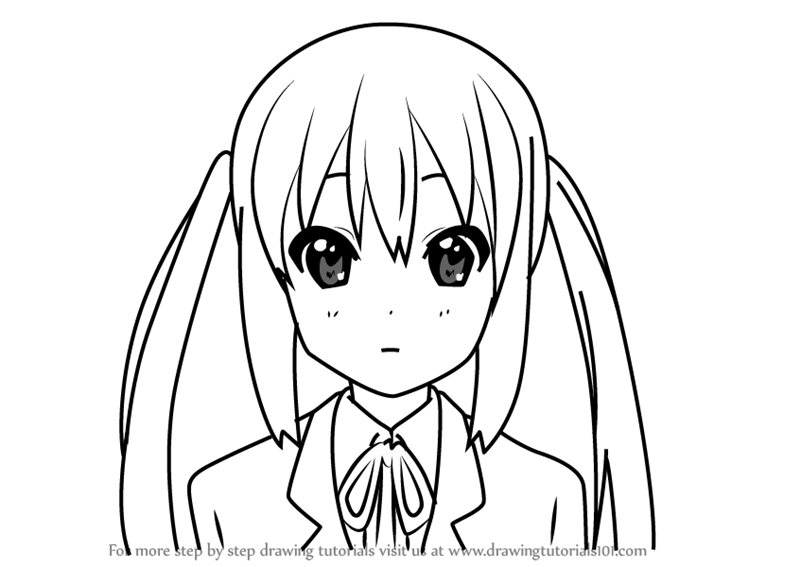 800x567 Learn How To Draw Azusa Nakano From K On!! (K On!!) Step By Step