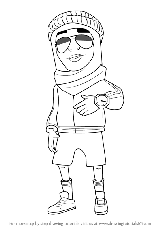 566x800 Learn How To Draw Prince K From Subway Surfers (Subway Surfers
