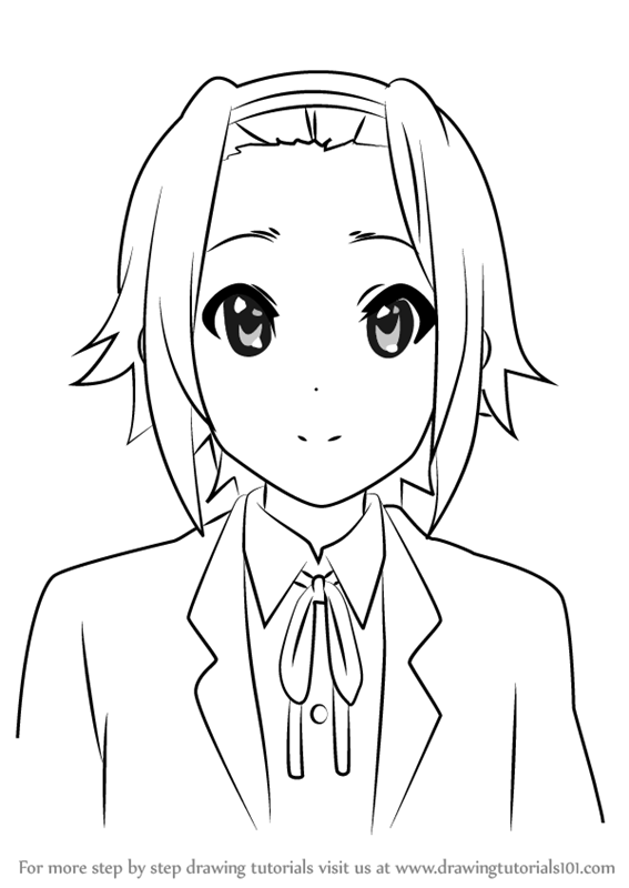 567x800 Learn How To Draw Ritsu Tainaka From K On!! (K On!!) Step By Step