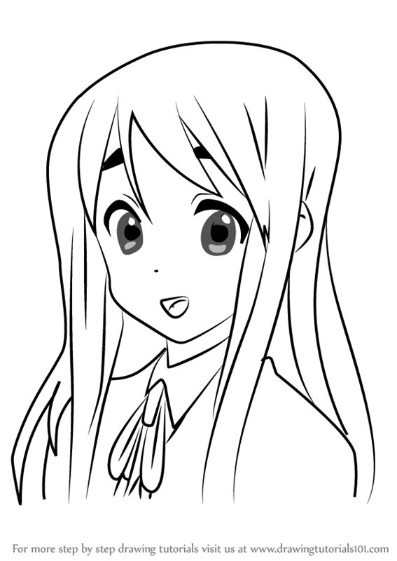 567x800 Learn How To Draw Tsumugi Kotobuki From K On!! (K On!!) Step By