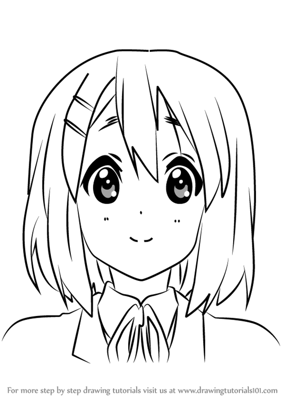 563x800 Learn How To Draw Yui Hirasawa From K On!! (K On!!) Step By Step