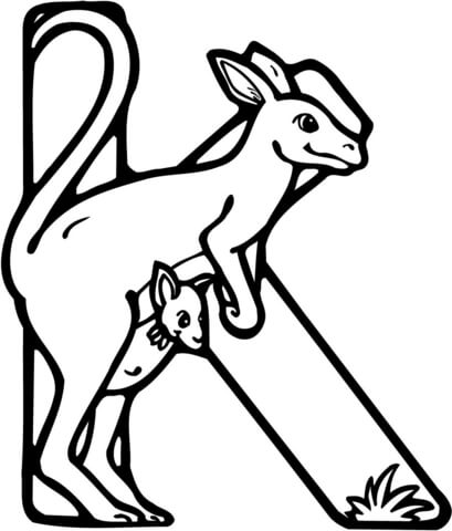409x480 Letter K Is For Kangaroo Coloring Page Free Printable Coloring Pages