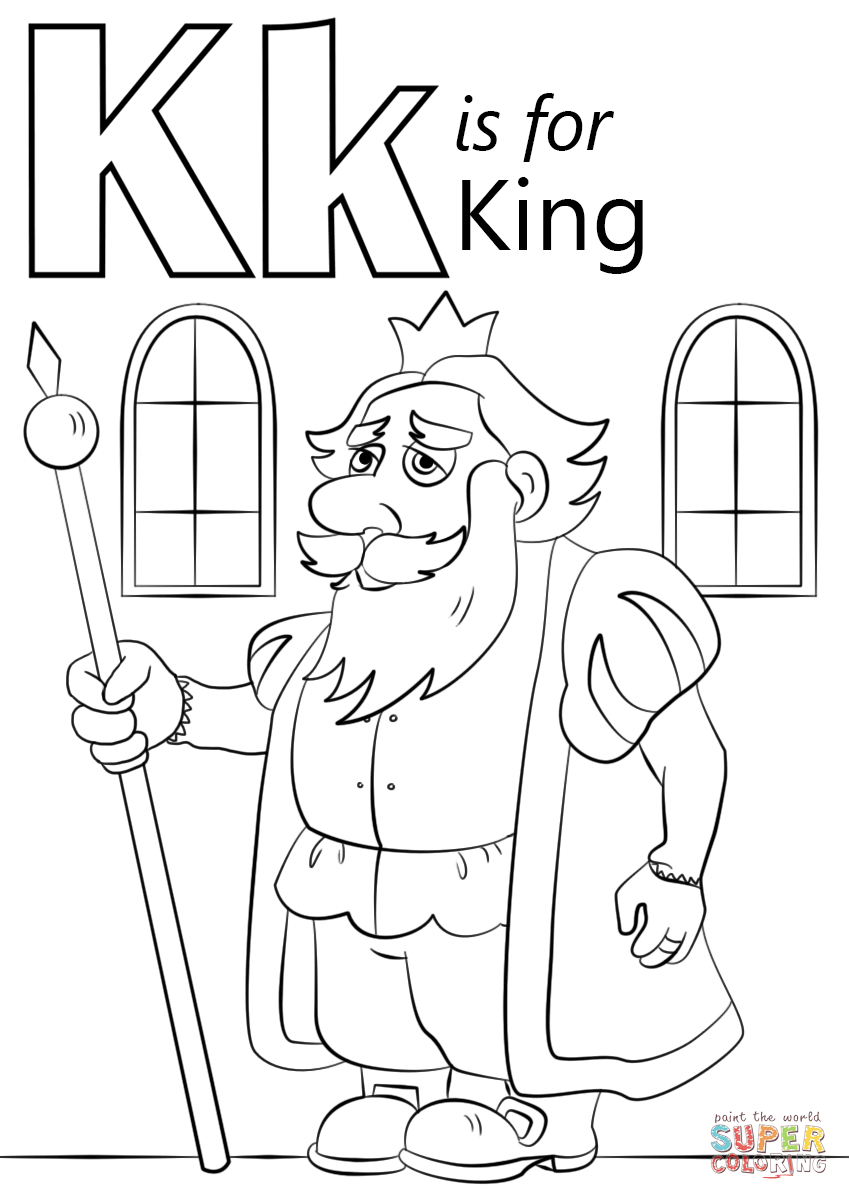 849x1200 Letter K Is For King Coloring Page Free Printable Coloring Pages