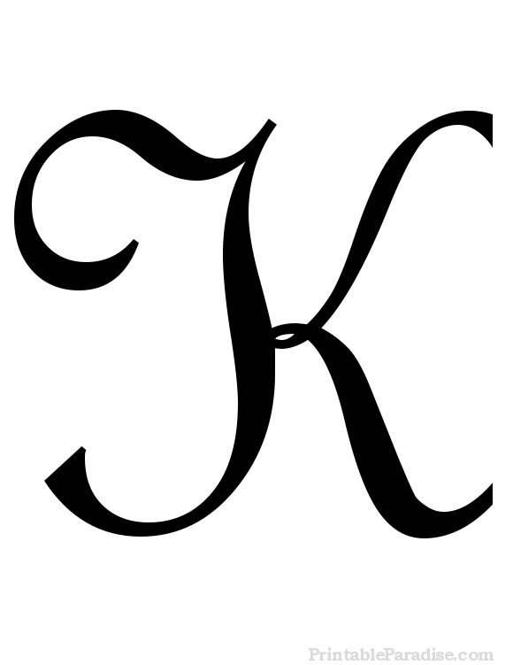 580x751 Printable Letter K In Cursive Writing Crafty Stuff