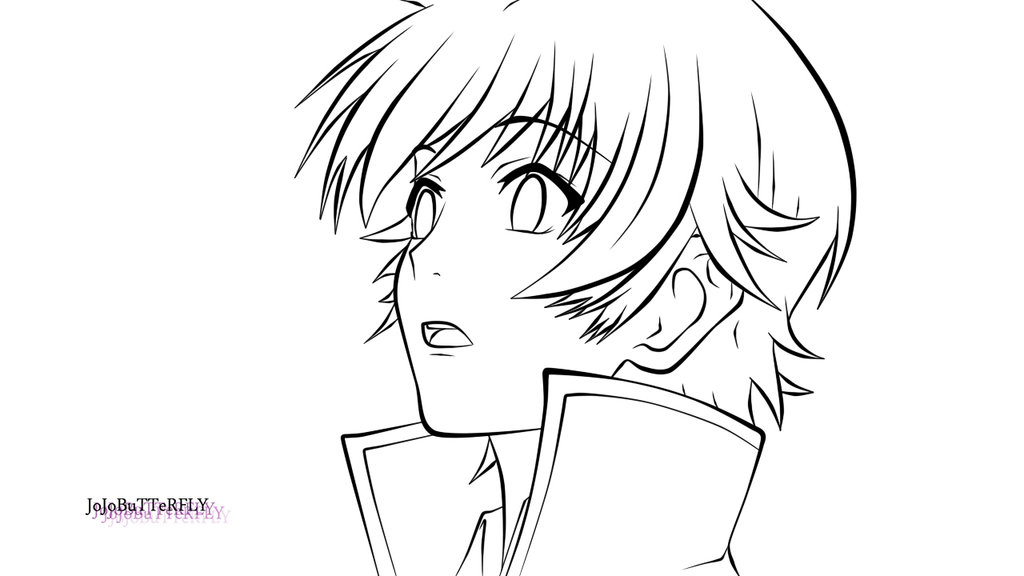 1024x576 Yashiro From K Project Lineart By Jojobutterfly