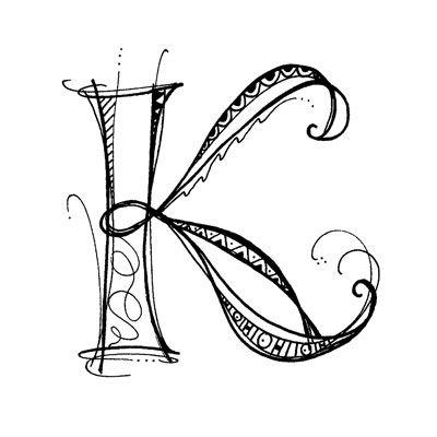 400x400 Image K Zentangle Letter {Smashbook} Ideas