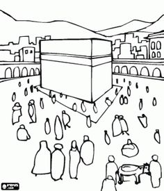 236x275 Kaaba Coloring Page Happy Face Coloring Pages