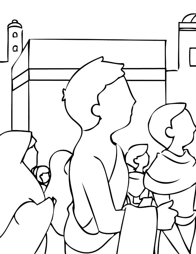 This is a photo of Ambitious Holy Kaba Coloring Page