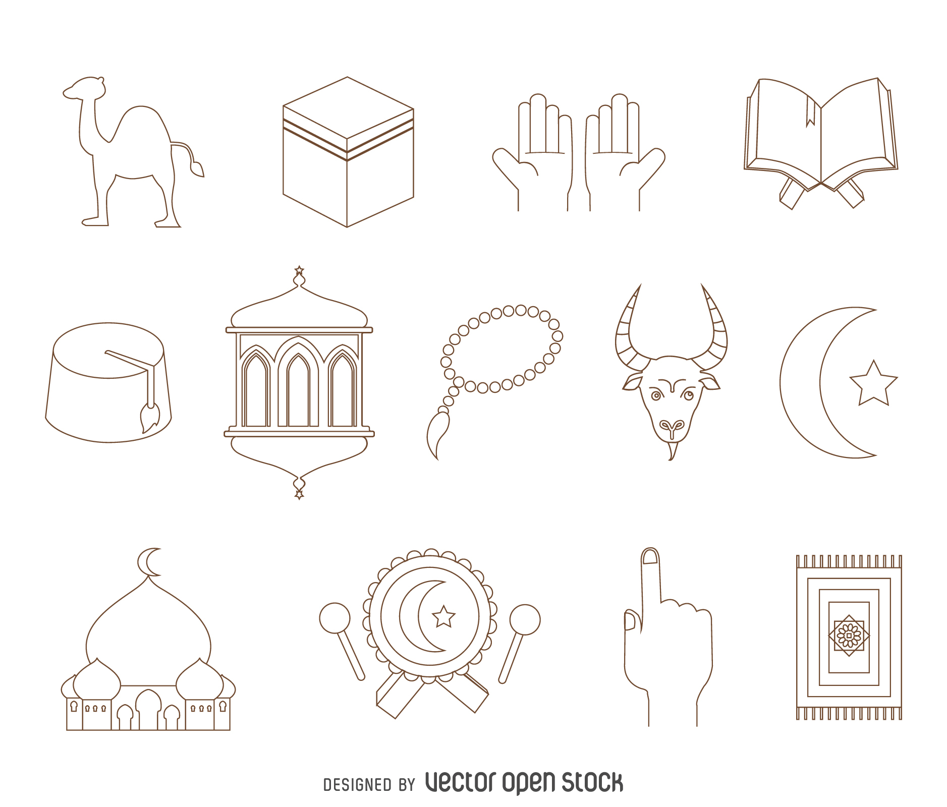 1877x1600 Arabic Elements Drawing Set Religions And Celebrations