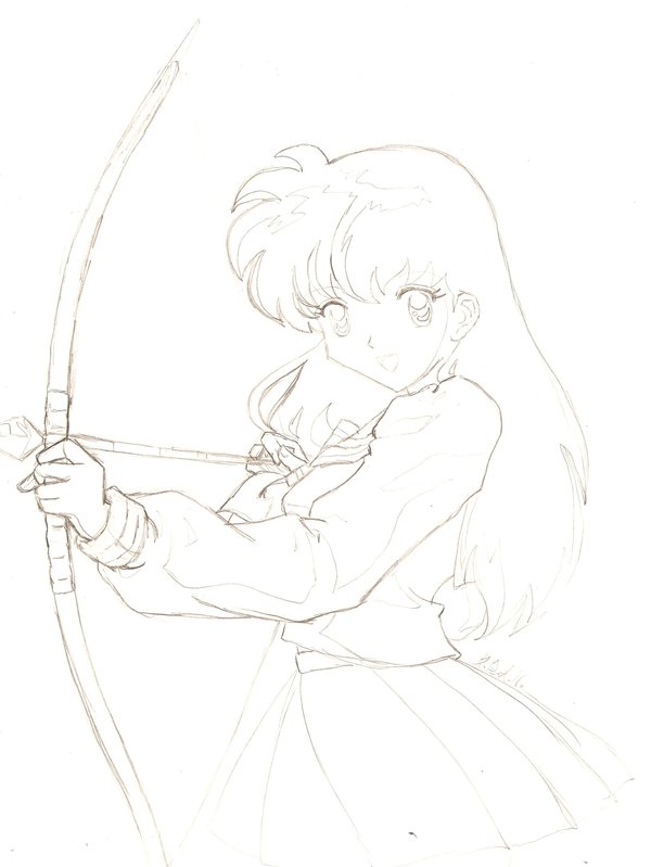 600x799 Anime Archer Kagome By Kagomebyanothername