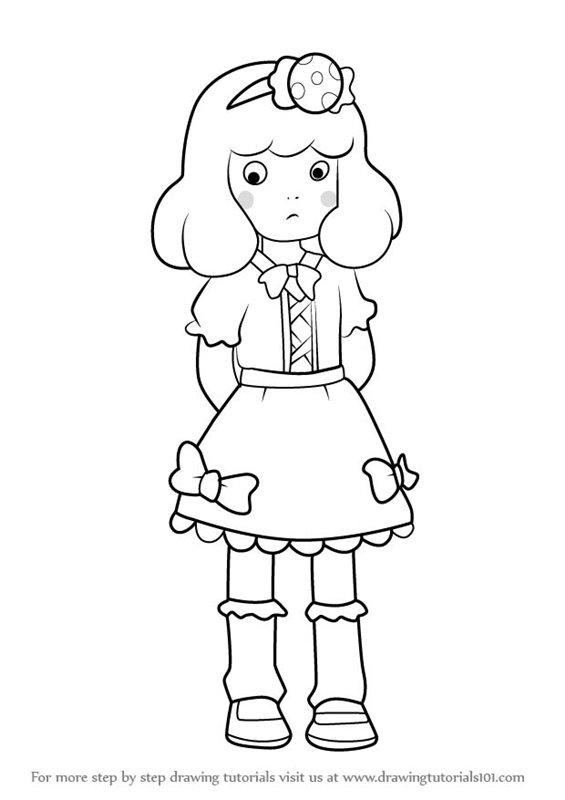 565x800 Learn How To Draw Lulu From Yo Kai Watch (Yo Kai Watch) Step By