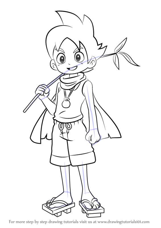 566x800 Learn How To Draw Nathaniel Adams From Yo Kai Watch (Yo Kai Watch