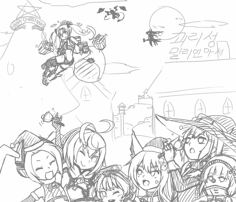 966x828 Kai Ri Sei Million Arthur Christmas Special Sketch By Orknology