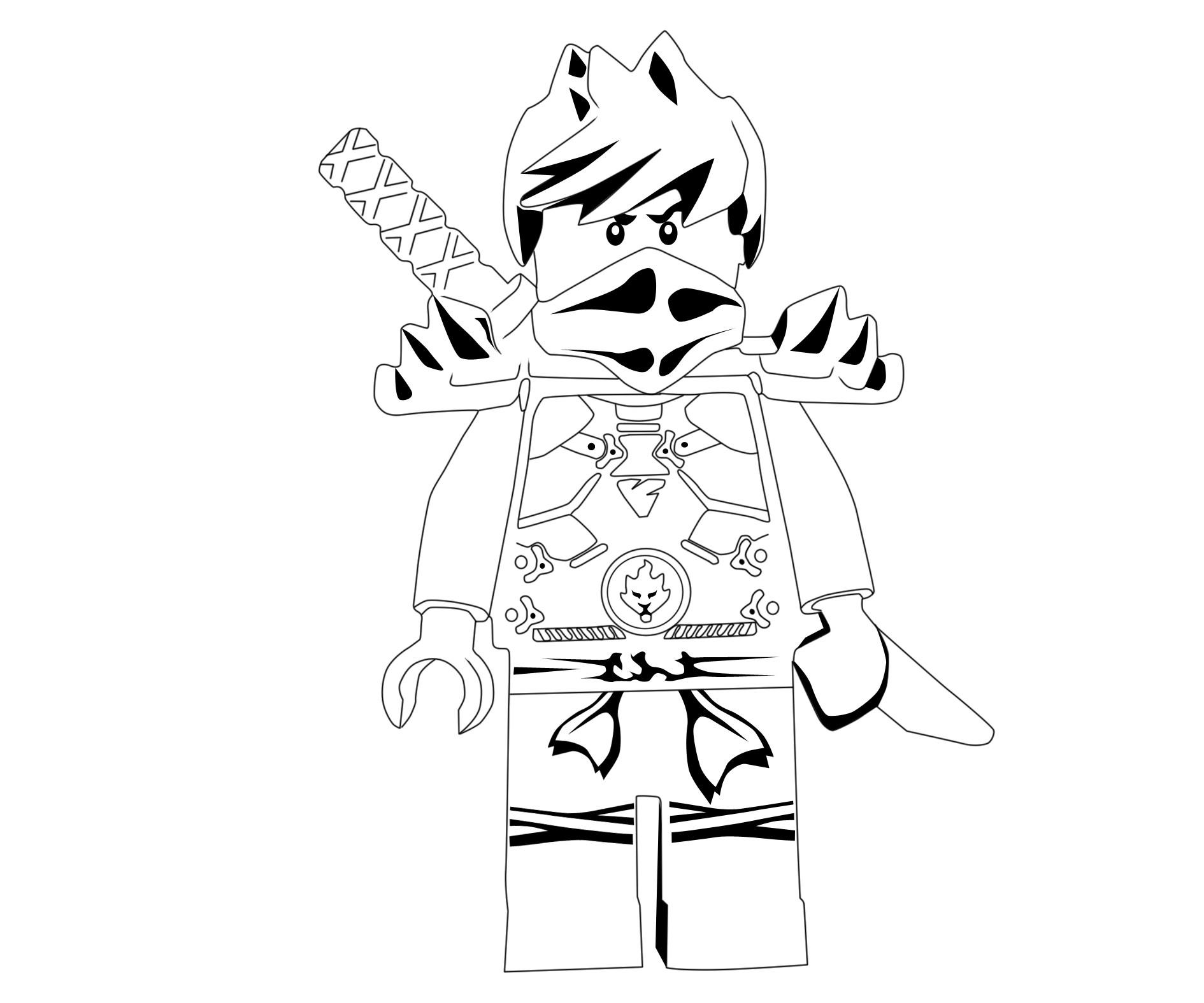 1890x1575 Lego Ninjago Kai Ninja With Sword Coloring Page