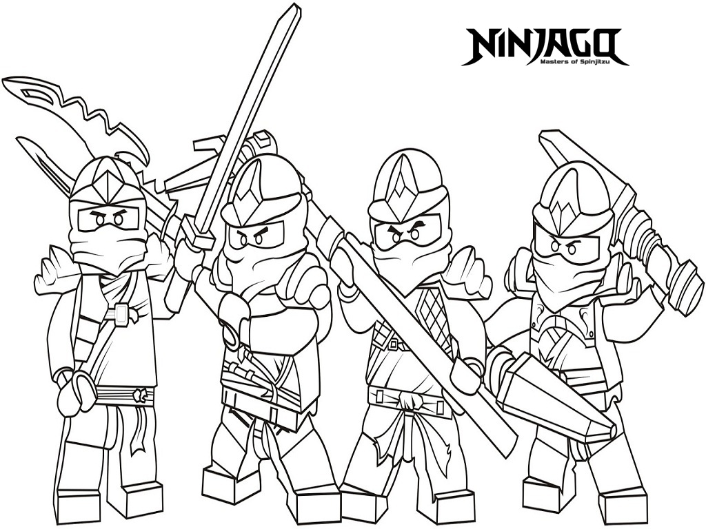 1024x768 Coloring Pages Free Printable Ninjago Coloring Pages Kai Free