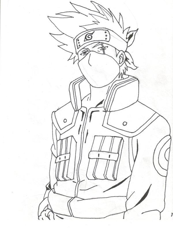 Kakashi Drawing at GetDrawings.com | Free for personal use Kakashi ...