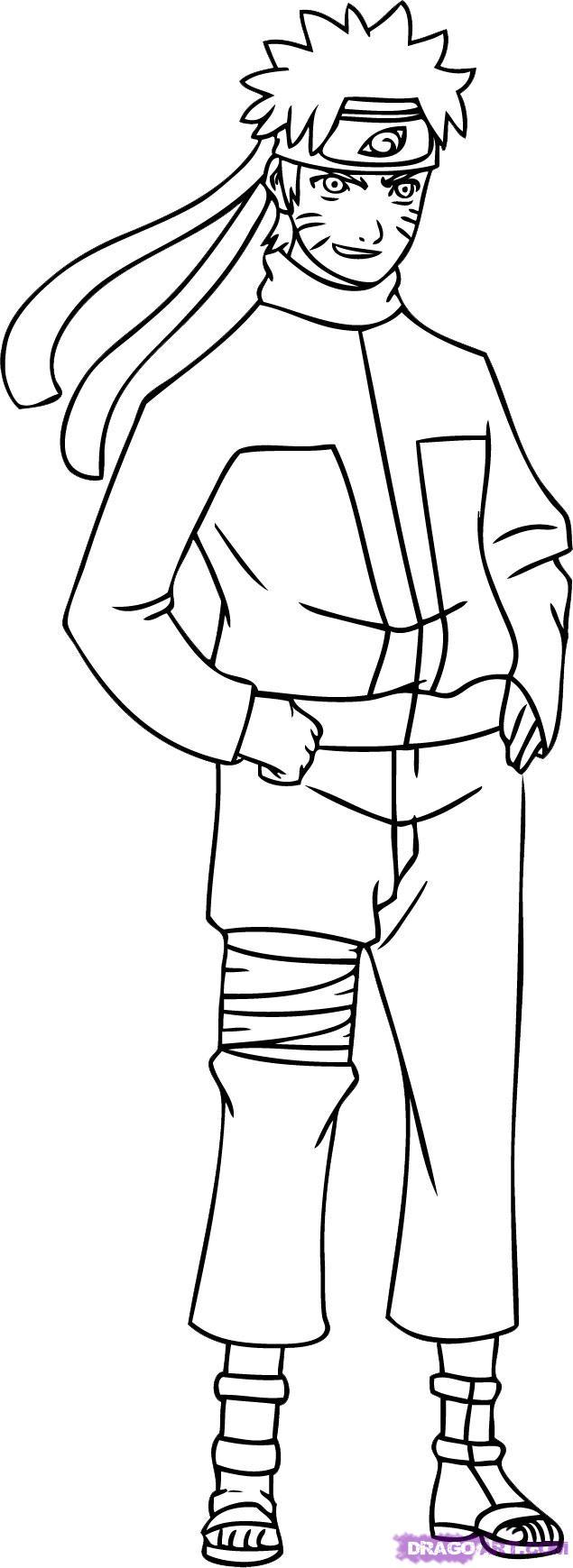 635x1739 Easy Drawings Of Naruto