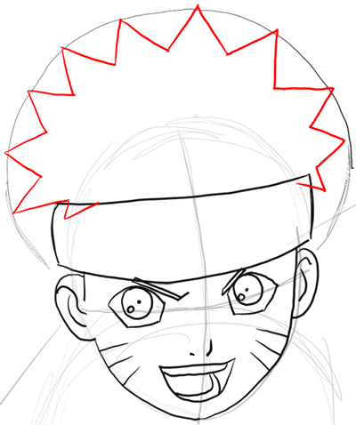 400x478 How To Draw Naruto Uzumaki With Easy Step By Step Drawing
