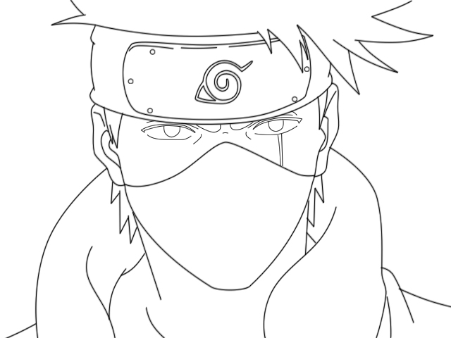 640x480 Kakashi Lineart By Bigowner