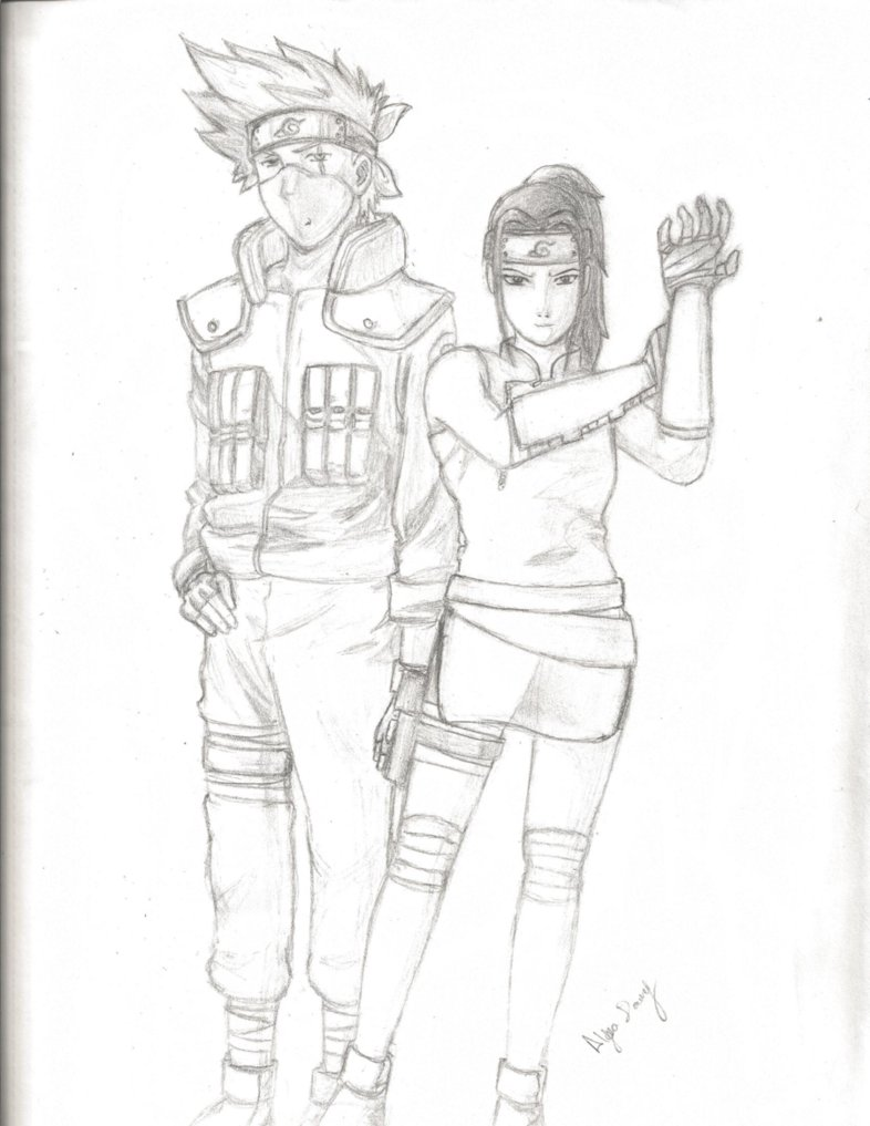 786x1017 Kakashi Hatake And Ayame Uchiha ( By Ljdowney