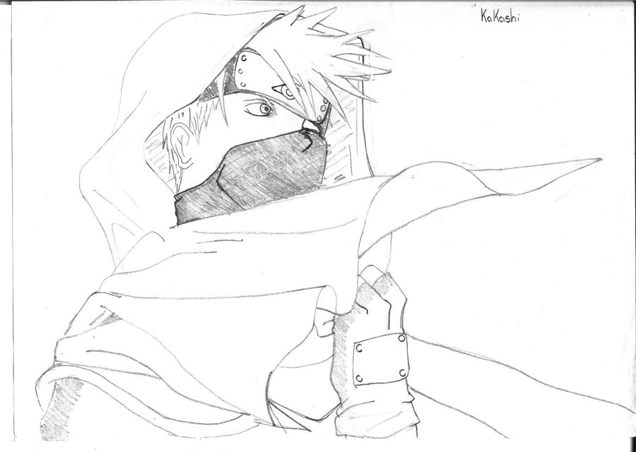 900x640 Kakashi Hatake Sketch By Saixpuppy222
