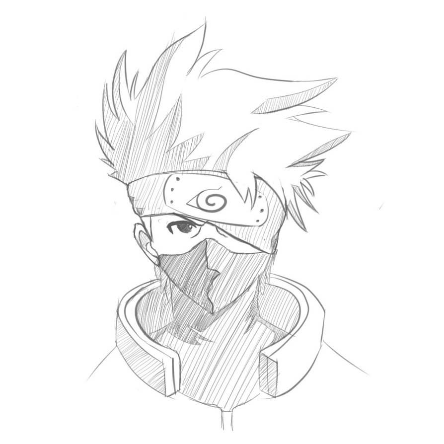 894x894 Kakashi Hatake Sketch By Gta261