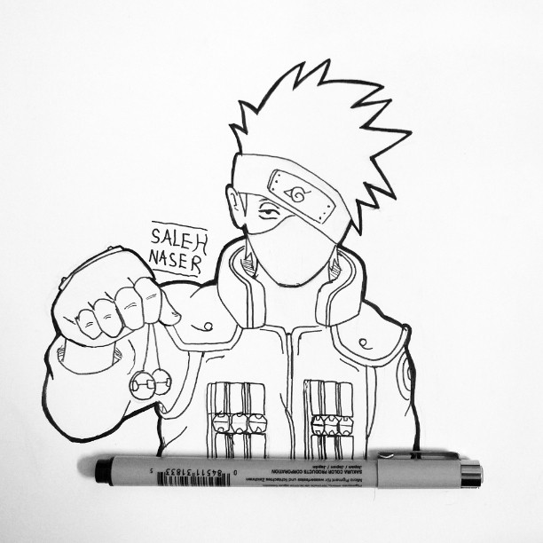 612x612 Draw Kakashi On Instagram