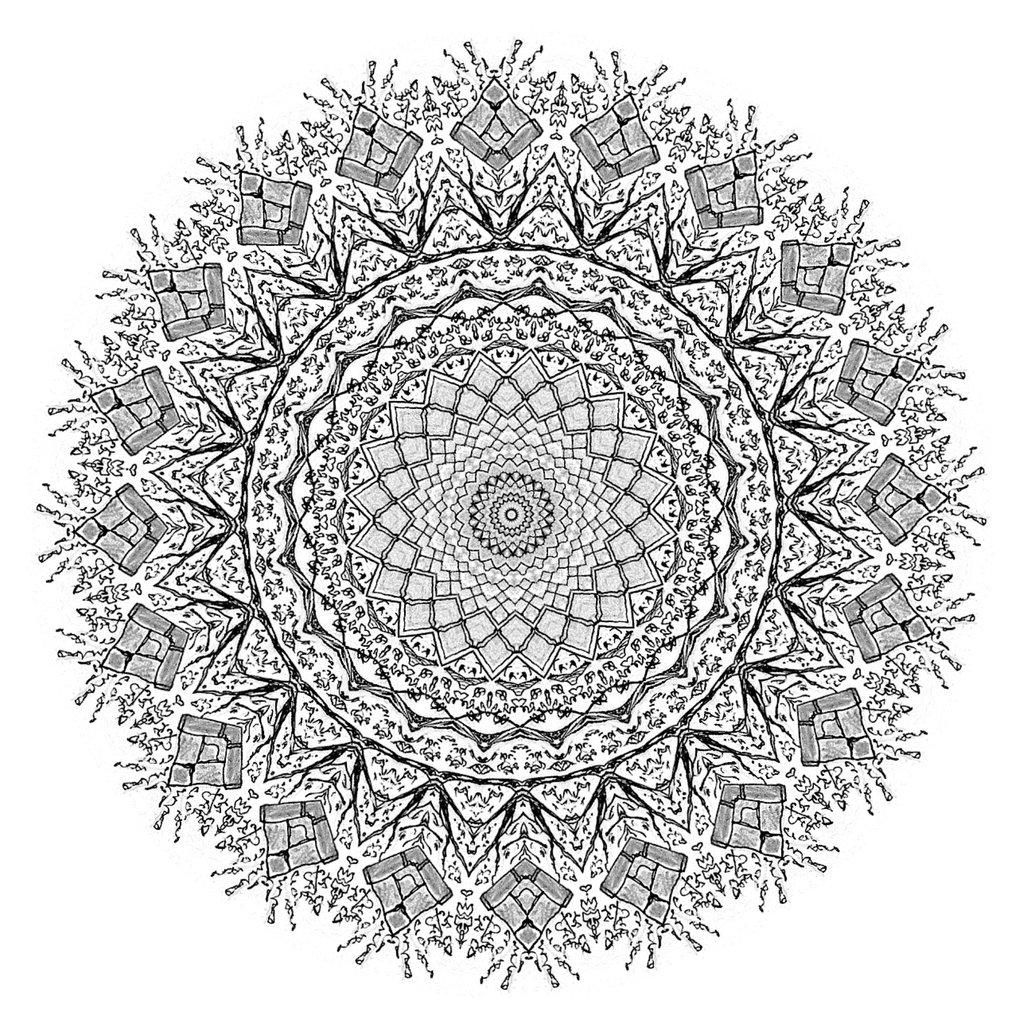 1024x1024 Church Kaleidoscope No.3 By Kevsterman