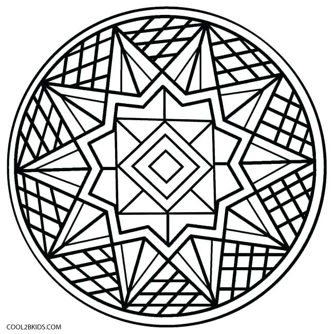 650x650 Easy Coloring Pages Kaleidoscope Coloring Pages Easy Media
