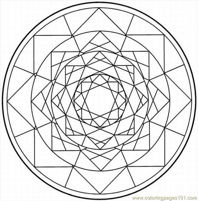 650x660 Kaleidoscope 1 Lrg Coloring Page