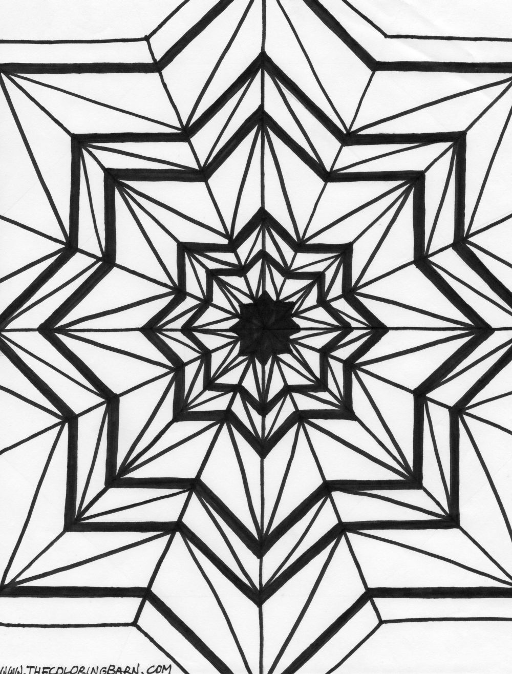 1000x1316 Kaleidoscope Coloring Pages