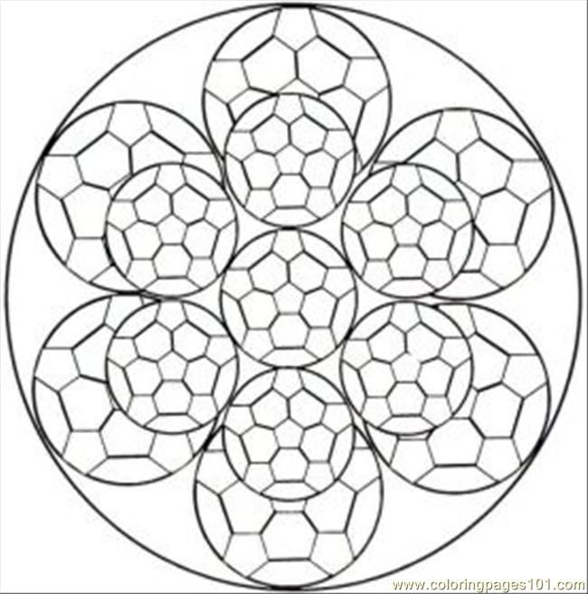 650x657 Kaleidoscope Coloring Pages Free Printable Coloring Page