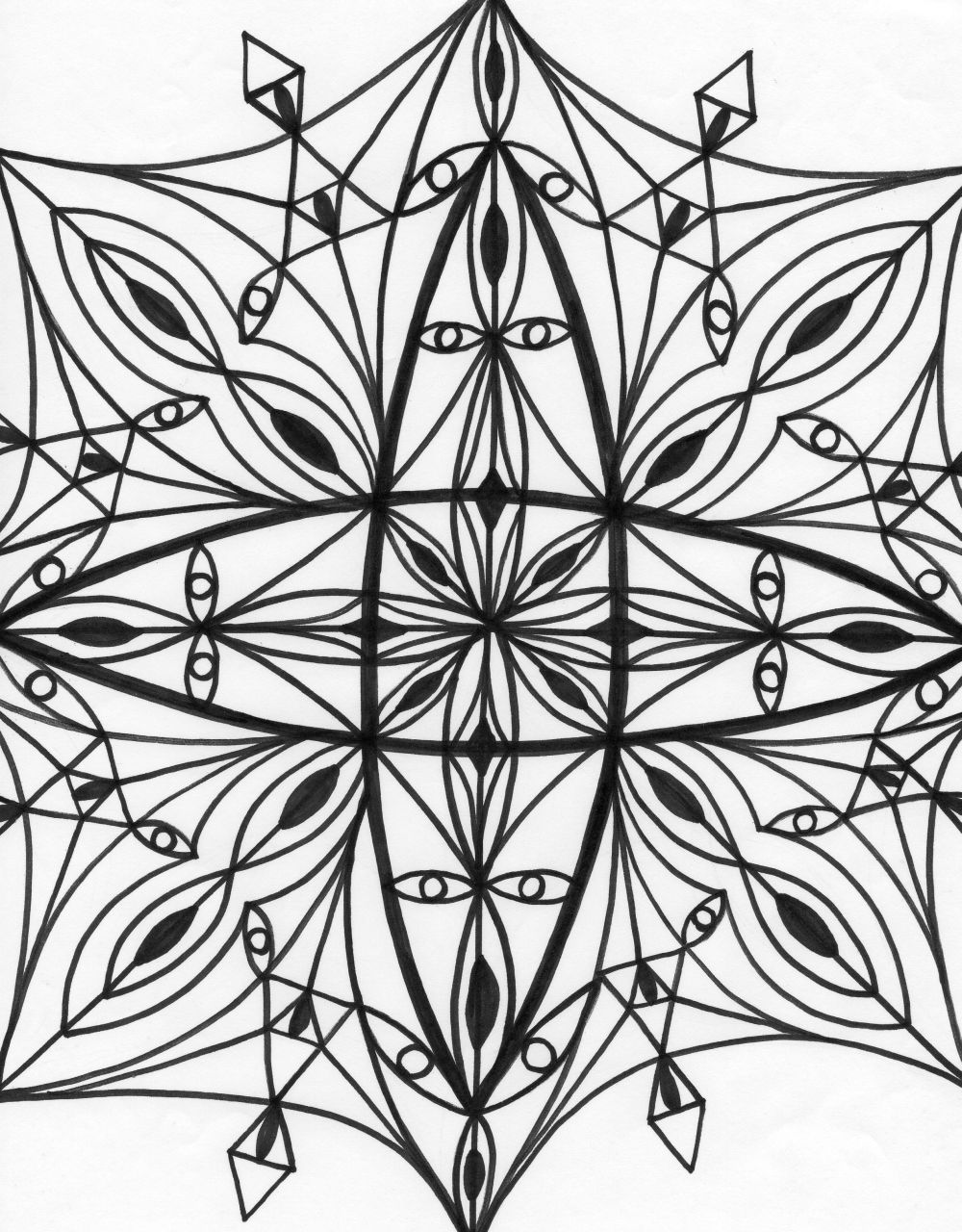 1000x1280 Kaleidoscope Coloring Pages Fordultsllmadecine Weddings