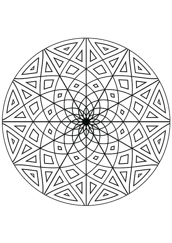 595x842 Kaleidoscope Coloring Pages Kaleidoscope Coloring Pages To Print