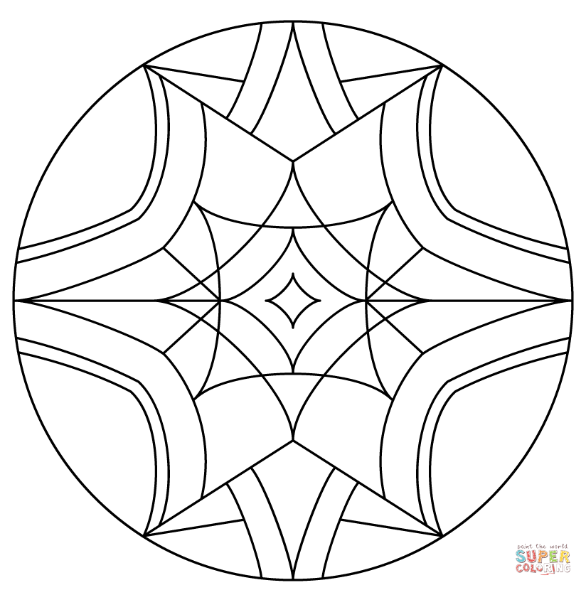 824x830 Kaleidoscope Coloring Page Free Printable Coloring Pages