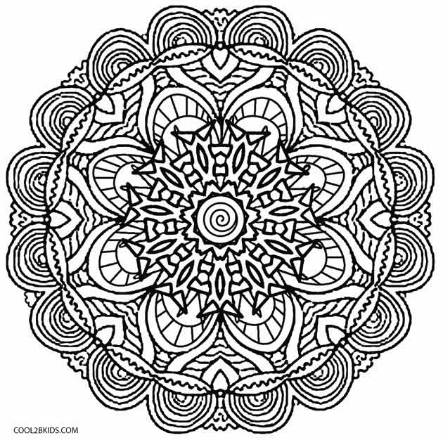 630x626 Printable Kaleidoscope Coloring Pages For Kids Cool2bkids