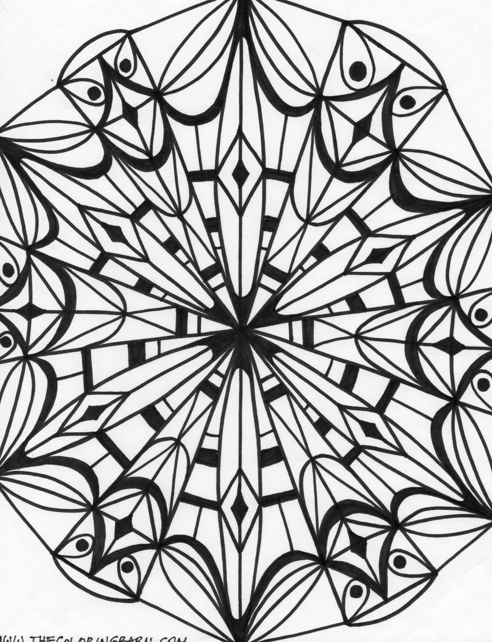 1000x1306 Printable Kaleidoscope Patterns Kaleidoscope 6 Coloring Page