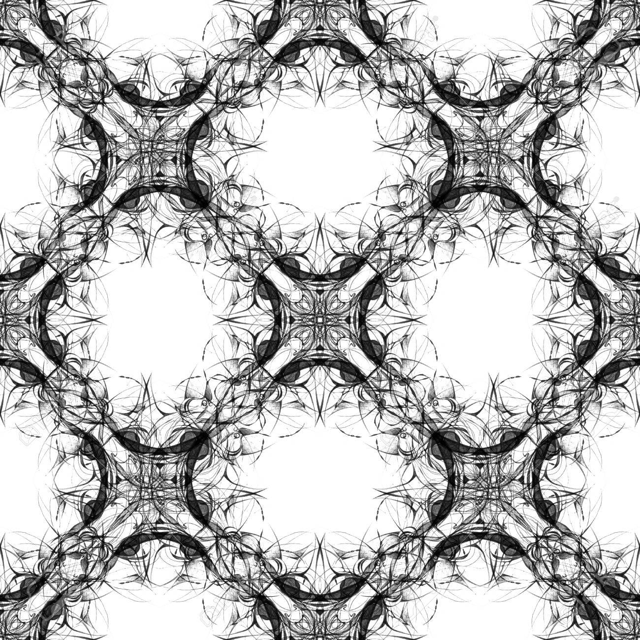 1300x1300 Seamless Abstract Kaleidoscope Pattern. Hand Drawn Curly Shapes