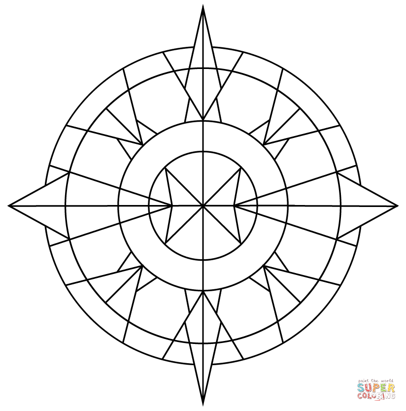824x834 Simple Kaleidoscope Coloring Page Free Printable Coloring Pages