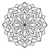 200x197 Kaleidoscope Coloring Pages Kaleidoscope Designs In