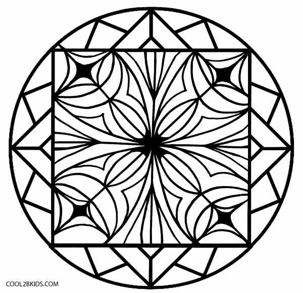600x581 Best Kaleidoscope Coloring Pages 74 With Additional Coloring Pages