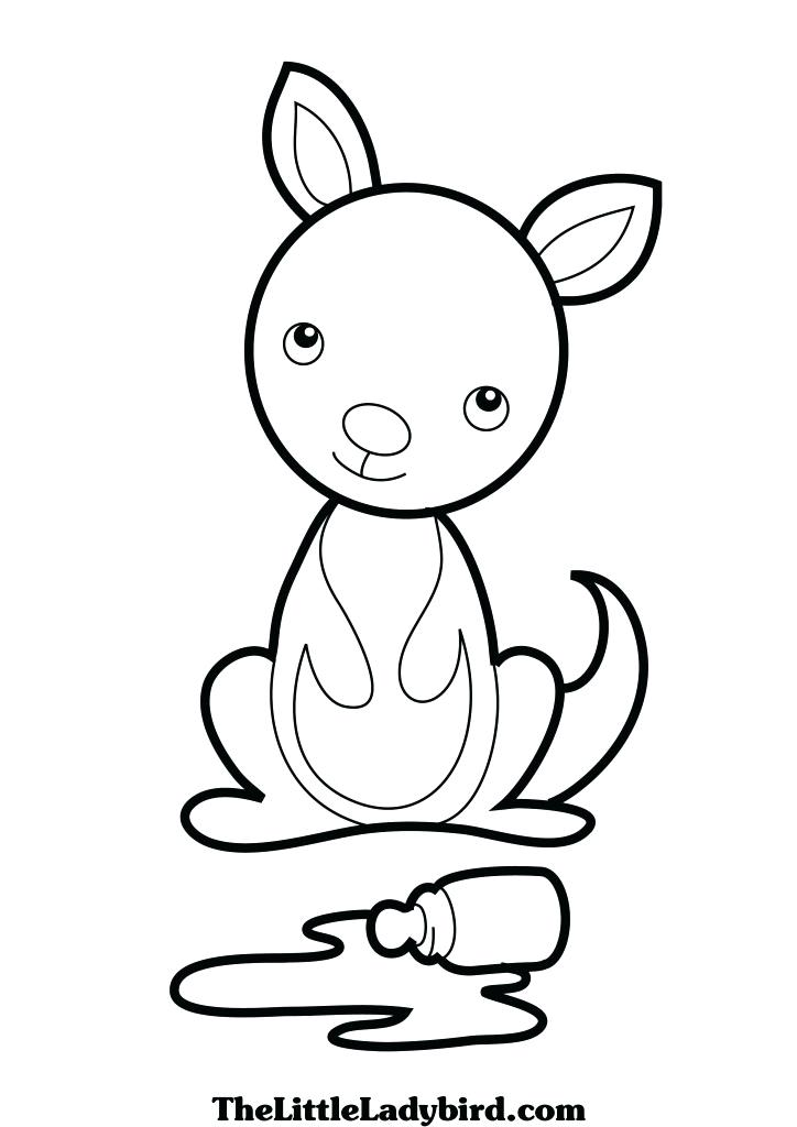 724x1024 Kangaroo Coloring Pages Carrying A Pouch Page