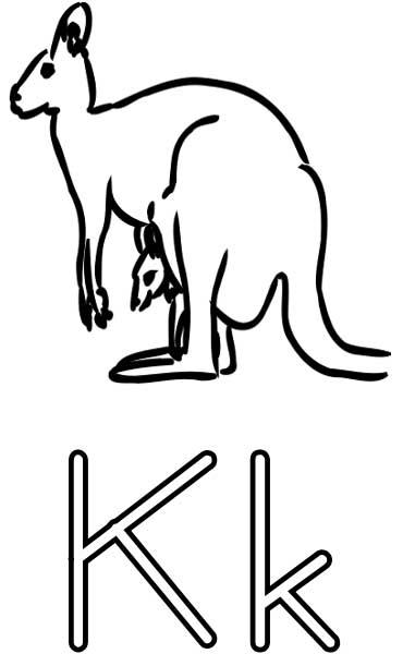 370x600 Kangaroo Coloring Page