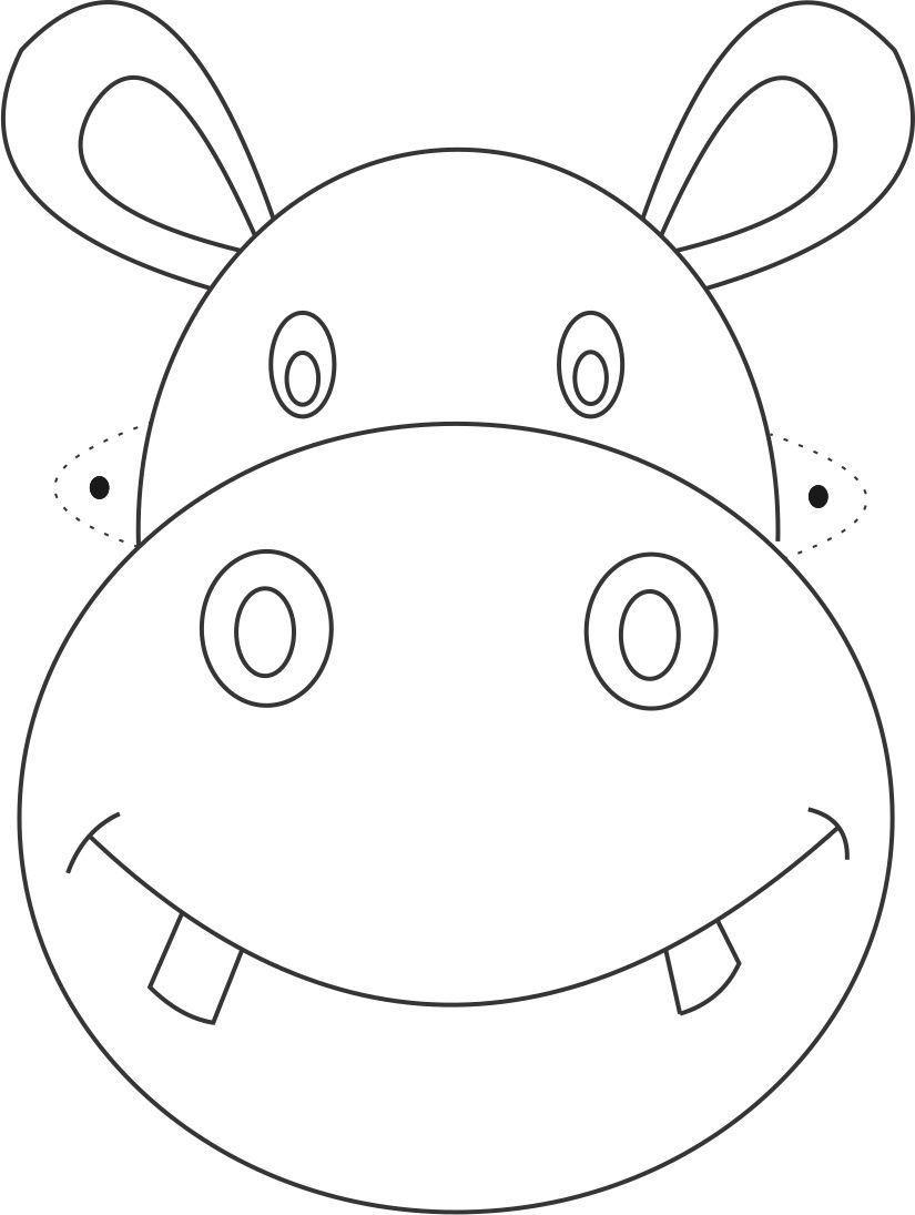 825x1095 Printable Kangaroo Mask Template Kangaroo Drawing Cut Out